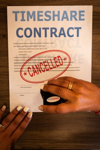 cancelled timeshare contract